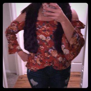 Miss me, Medium, Floral Cold shoulder blouse